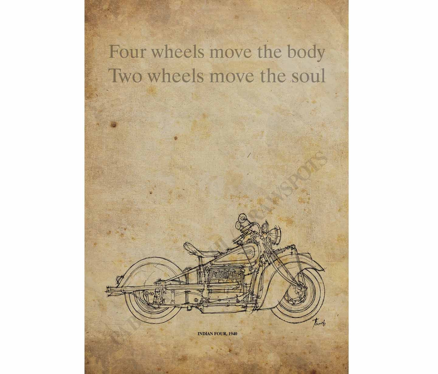 indian four 1940 custom quote four wheels move the body two wheels