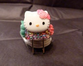Hello Kitty Multi Color Studded iphone 4 Charger