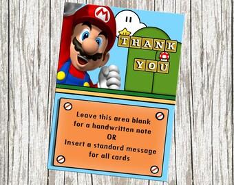 Super Mario Birthday Thank You Card