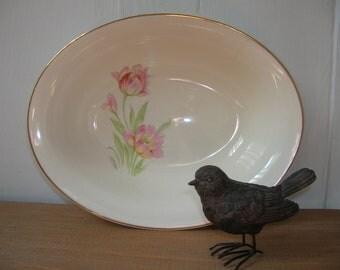 Vintage Oval Tulip Bowl