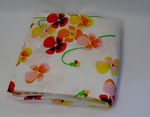 Poppy Flowered Fitted Sheet
