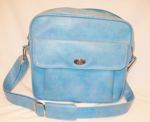 Samsonite Vintage Luggage Columbian Blue Shoulder Tote