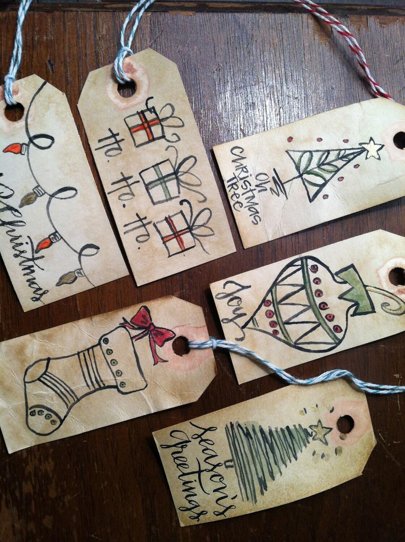 Calligraphy christmas gift tags