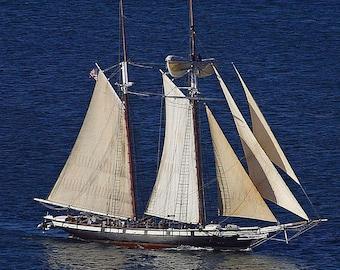 Tall Ship Cross Stitch Pattern from a Vintage Photograph - Fiber Art