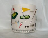 Golf Pillar Candle, Golf Themed Scented Pillar Candle, Large White Pillar Candle Decorated for Golfers, Golfers Gift