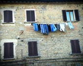 Laundry Day in Italy: 5X7 inch Signed Fine Art Photograph