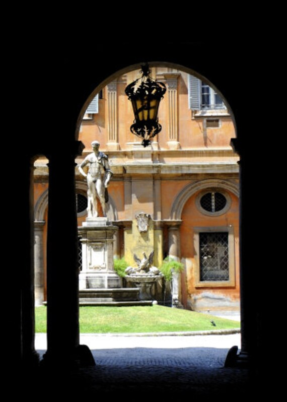 Roman Courtyard - 5X7 inch Signed Fine Art Photograph