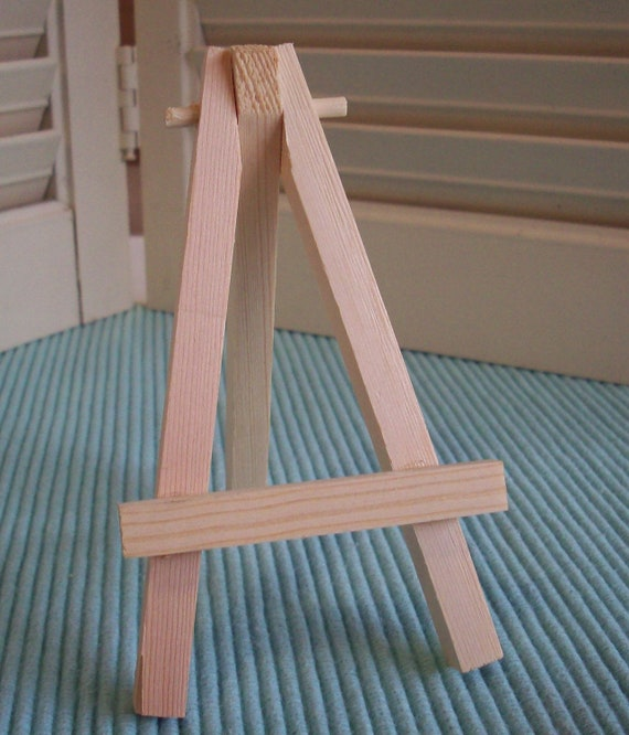 Small Easel, Natural Wood Tabletop Mini Easel for Small Art ACEO, Small Canvas, Small Tiles, Place Card Holder, Table Number Display Holder