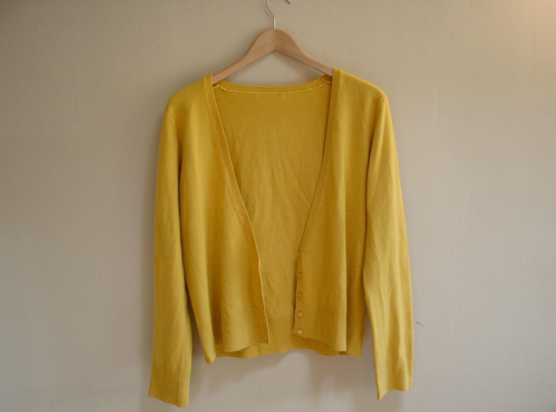 Mustard Yellow Cardigan Australia - Cashmere Sweater England