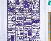 Homemaker Craft Calendar. A3 Laser cut. Purple.