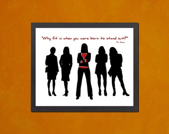 Why Fit In When You Were Born To Stand Out - Grrlz Version  - 8.5x11 Poster Print - also available in 13x19 - see listing details