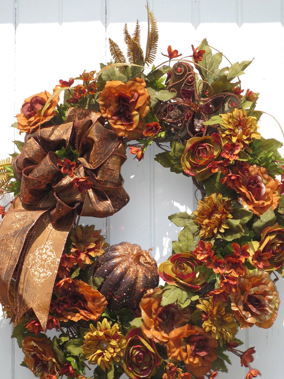 Fall Wreath Thanksgiving Wreath Autumn Wreath Floral