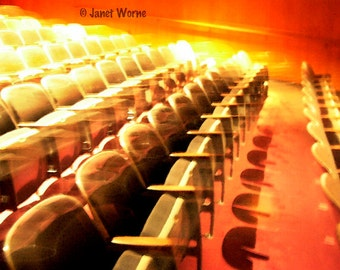 Symphony in Red and Yellow, theater seats, fine art photograph
