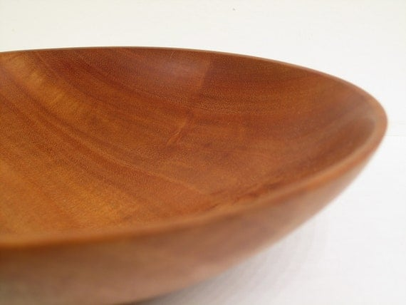 Wooden Bowl: Brilliantly Colored Hand Turned Wood Bowl, Eucalyptus