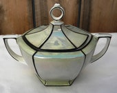 Vintage Art Deco MZ Altrohlau CMR Czechoslovakia Lusterware Sugar Bowl