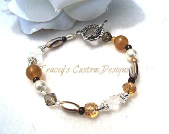 Womens Stone Bracelet - CUSTOM SIZING AVAILABLE