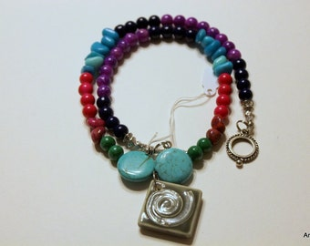 Bold and chunky multicolored necklace