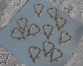 4 Heart Shaped Dangle for Earrings or Necklace