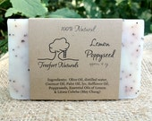 Lemon Poppyseed Scrub Soap - Handmade Cold Process, Organic,  All Natural, vegan, Gardener's soap