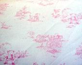 Soft Pink Baby Cotton Toile Fabric Yardage