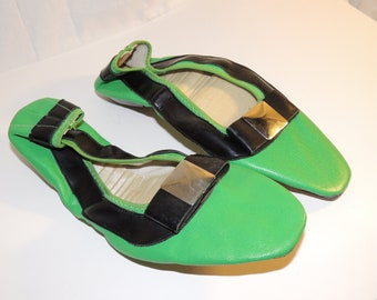Vintage 60's Women's Slippers House Shoes