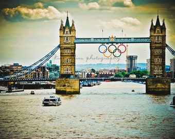 Tower Bridge London,Olympic Rings,England-ColorFine Art Photography-multiple Sizes Available,Travel, London,London Bridge, Olympics