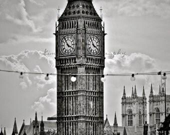 Big Ben  Lights-London,England-Fine Art Photography-multiple Sizes Available,Travel,London,Big Ben, Black&White