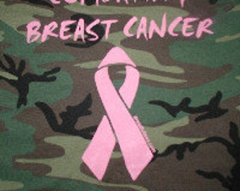 Combating Breast Cancer  Tee Shirt - Camo