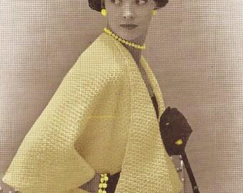A BEST Vintage 1953 Tippit Cape Jacket Wrap 797 PDF Digital Knit  Pattern