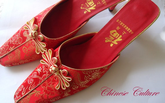 Classical beauty Chinese Wedding bridal shoe, T-C-001