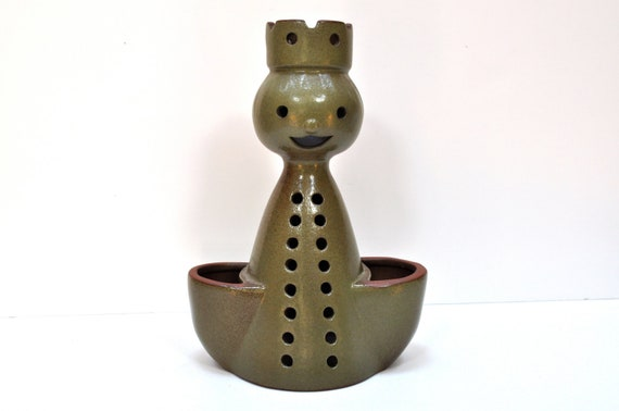 Holiday Sale- Designs West California Large Figural Folk Danish Modern Style Planter/Candle Holder