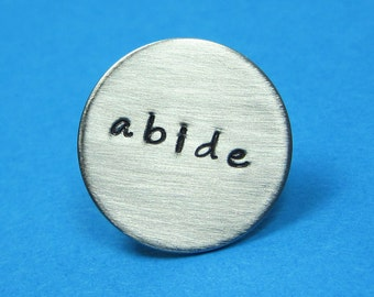 "Custom Tie Tac  3/4"" Personalized Tie Pin - Wedding Groom's Gift Best Man's Custom Tie Tack - Initials Date Tie Pin"