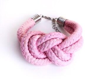 PASTEL - Cotton Rope Bracelet in Light Pink / Rose