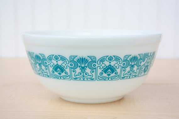 Vintage Pyrex Horizon Blue Mixing Bowl By Theglasslily On Etsy