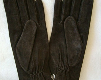 vintage Fownes brown leather lined glove