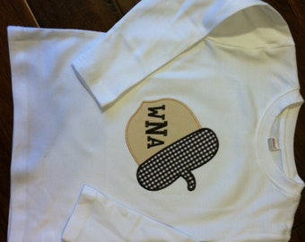 Custom Applique Monogram Fall Acorn Shirt -Short or Long Sleeve