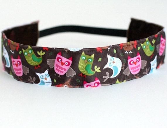 "It's a Hoot Owl Non-Slip Headband 1.5"", NonSlip Headband, NoSlip Headband, Owl, Running, Workout, Fitness, Spinning, Gifts Under 10, Dance"