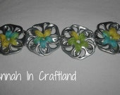 AWESOME Recycled Pop Can Tab Flower Braclet reserved until 8/2/12