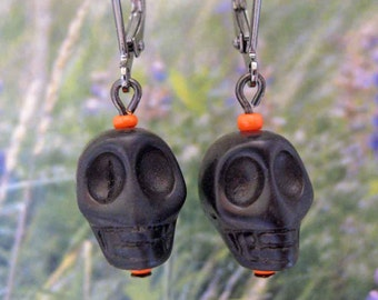 Game Face Black and Orange Baseball Earrings FREE Shipping