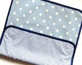 Polka dot changing mat - Polka dot changing pad - baby changing mat - polka dot baby - waterproof changing mat - portable changing mat.