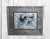 Cowboy Boots - Framed Laser Engraved Photograph - Western and Cowboy Photography and Decor- Barn wood Frame