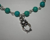 Owl Bracelet - Turquoise Owl Bracelet - Turquoise Bracelet -  Hoot - Gift for Her