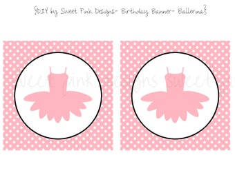 Tutu Ballerina Party- Birthday Banner