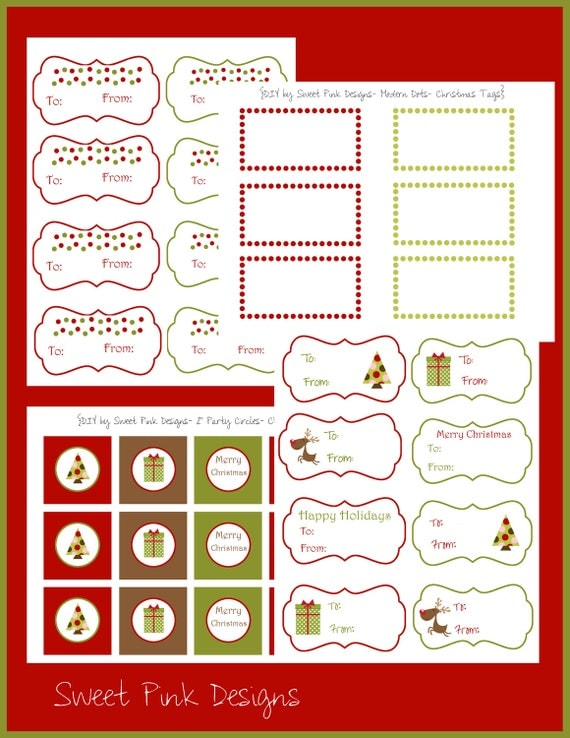 Modern Dots Christmas Tag Collection