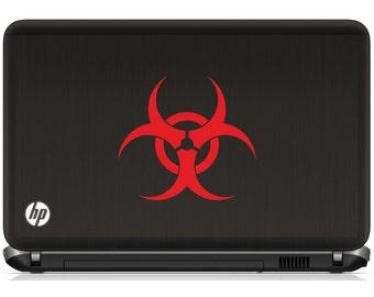 BioHazard laptop vinyl laptop tablet vinyl decal - ask us for your custom logo or symbol decal (ID: 181002)