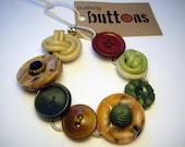 Weed - Vintage Button Bracelet