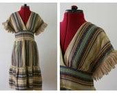 1970's Hippie Dress // Size S-M