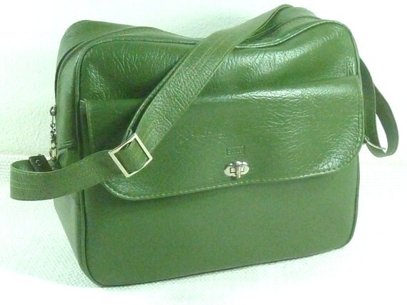 Vintage Green Sears Carry on Luggage