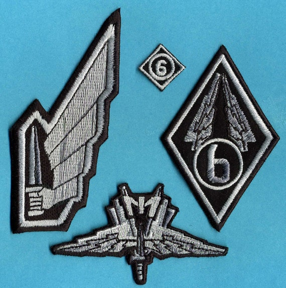 starship troopers mobile infantry embroidered patch set of 4