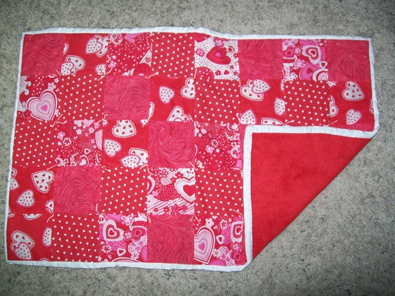 "Valentine's Hearts  Changing Pad or Nursing Cover  27"" x 17"""